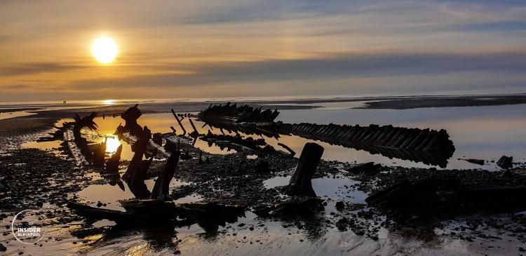 Anchorsholme Shipwreck the Abana. Blackpool things to do.
