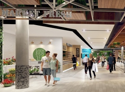 Artist's impression of the new food court at Lutwyche Shopping Centre