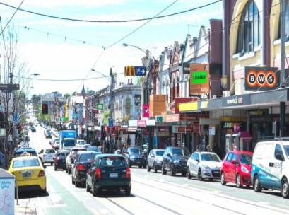 Melbourne suburban retail strip