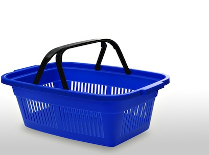 basket, supermarket, shopping basket, trolley