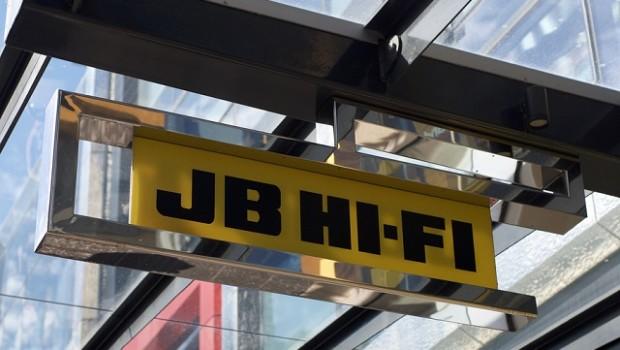 Image of a JB Hi-Fi store sign