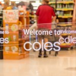 Image of a store entrance to a Coles supermarket