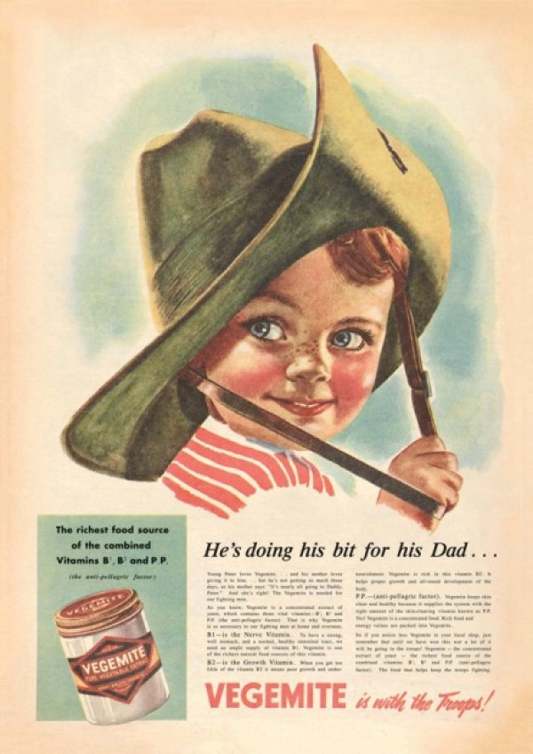 A Vegemite advertisement from 1942.