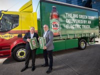 Linfox launches electric-truck deliveries with beer the first cargo