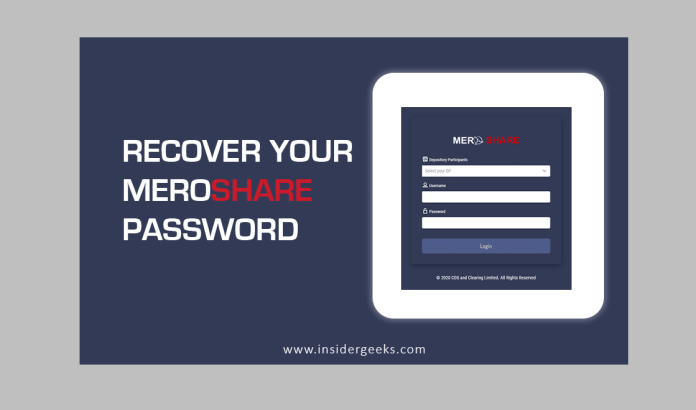 How to recover Mero share Password?
