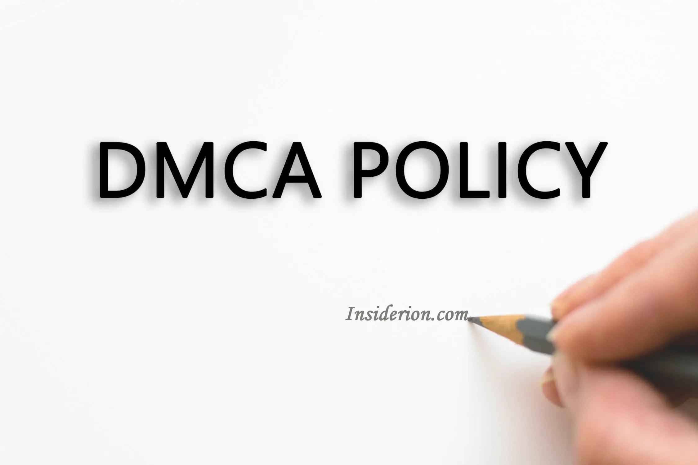 Dmca Policy Insiderion Com