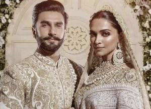 Deepika Padukone and her husband Ranveer Singh wedding photo