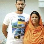 Mashrafe Mortaza and her mother