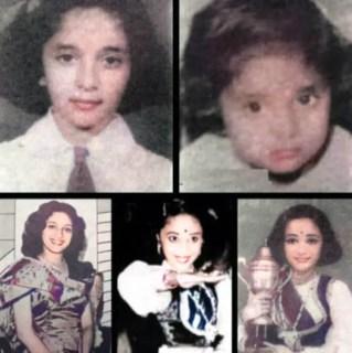 Actress Madhuri Dixit old photo