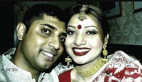 Akhi Alamgir with her husband Rusho