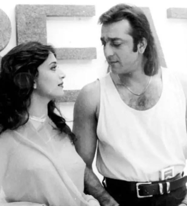 Madhuri and Sanjay Dutt (Actor)