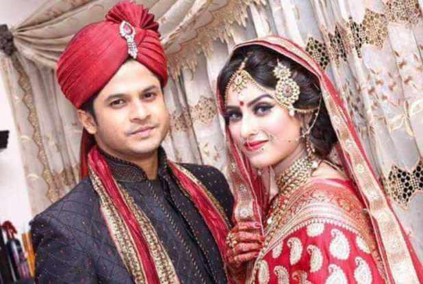 Anika Kabir Shokh with her husband Nilay Alamgir