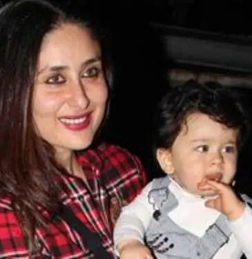 Kareena Kapoor with her son