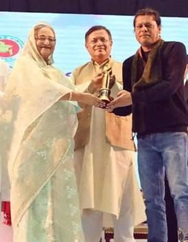 Nagarbaul James with Sheikh Hasina(PM)