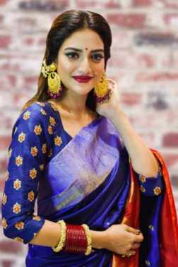 Nusrat Jahan Saree Photo