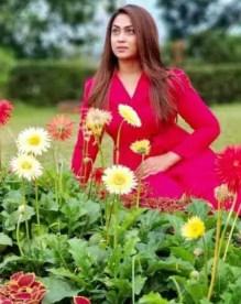 Sadika Parvin Popy with  Garden Photo
