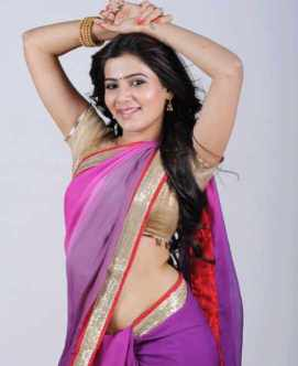 Samanta Akkineni with Pink Saree