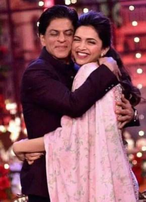 Shah Rukh Khan with Deepika Padukone