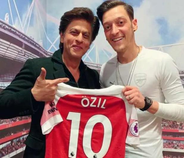 Shah Rukh Khan with Ozil