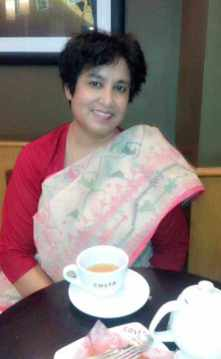 Taslima Nasrin with tree Image