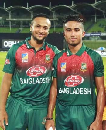 Afif Hossain with Shakib Al Hasan