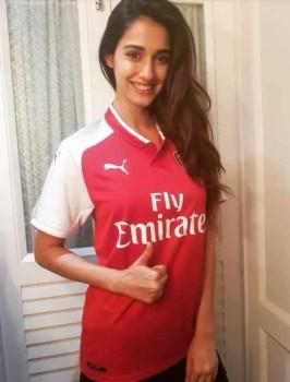 Disha Patani with Arsenal T-Shirt Image