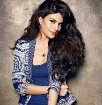 Jacqueline Fernandez with Blue dress Photo
