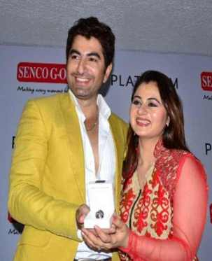 Jeet with his Wife