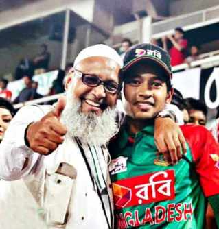 Musfipur Rahim with his Father