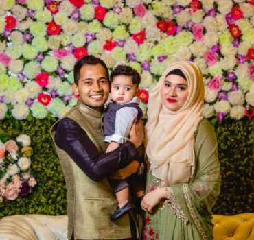 Musfipur Rahim with his Wife and son
