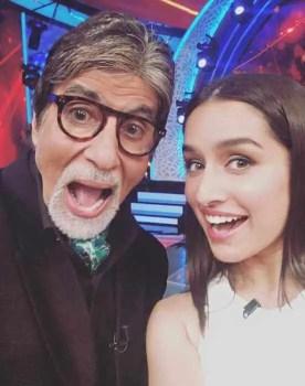 Shraddha Kapoor with Amitabh Bachchan
