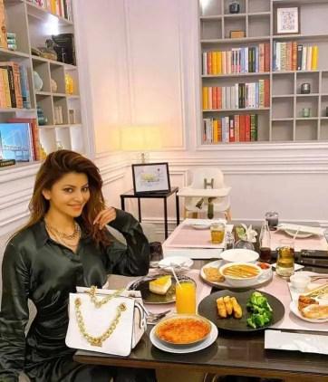 Urvashi Rautela with Foods