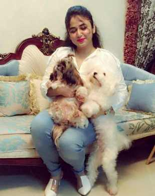 Faria Shahrin with her Dog