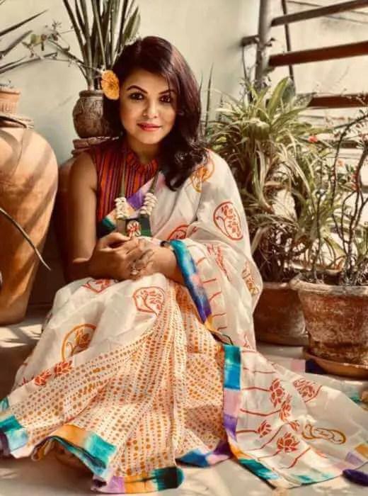 Meher Afroz Shaon Saree Image