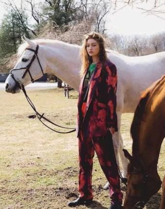 Gigi Hadid With Horse