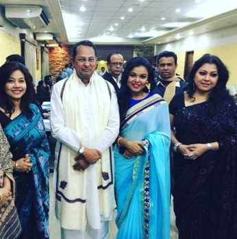 Shomi Kaiser with Hasanul Haque Inu, Meher Afroz Shaon, and Parvin Sultana