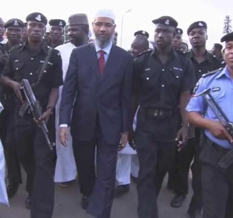 Zakir Naik with Security