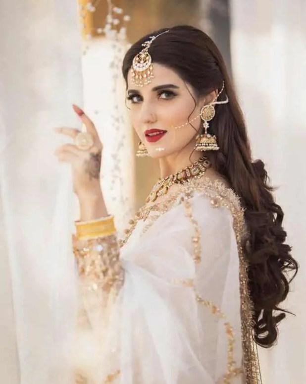 Hareem Farooq White Dress Picture