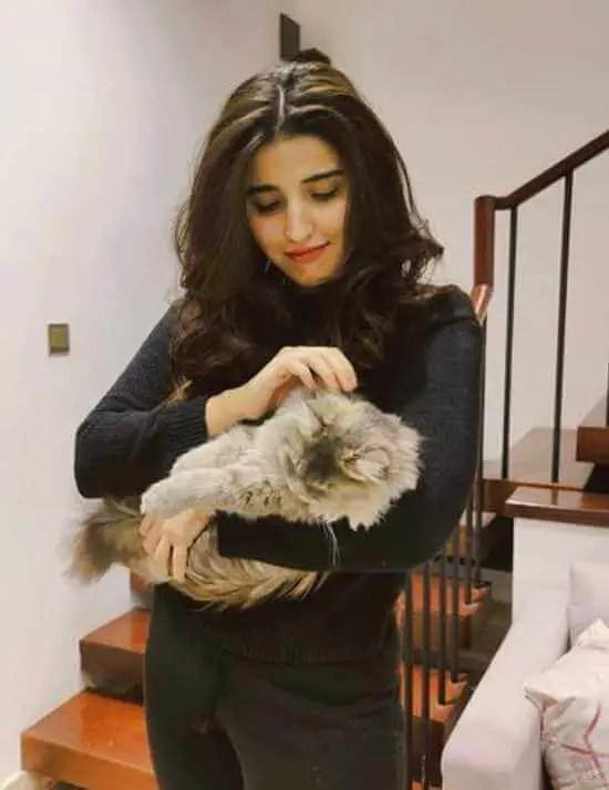 Hareem Farooq with her Dog