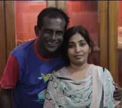 Hasan Masood's wife's Phpoto