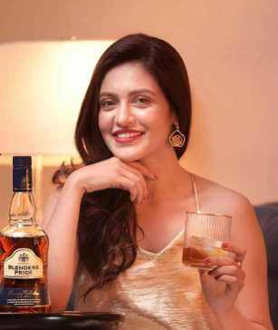 Priyanka Sarkar with Drinks