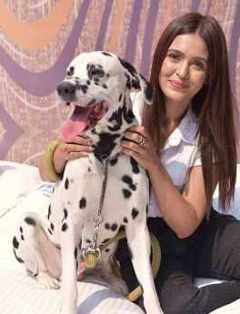 Priyanka Sarkar with her Dog