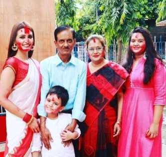Priyanka Sarkar with her Family