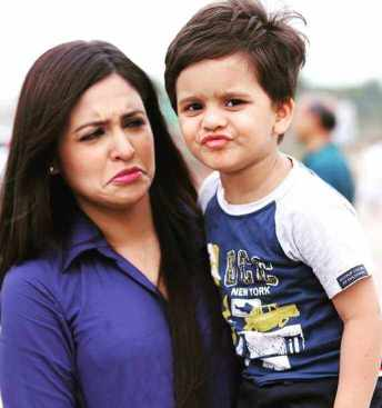 Priyanka Sarkar with her Son