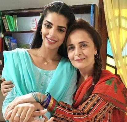 Sanam Saeed with her Mother