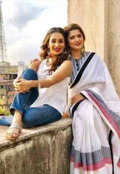 Sayantika Banarjee with Srabanti Chatterjee