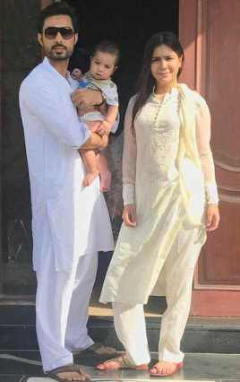 Humaima Malick with her Brother-in-law