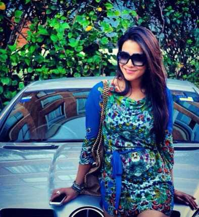 Humaima Malick with her Car