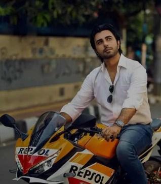 Ziaul Faruq Apurba with Bike