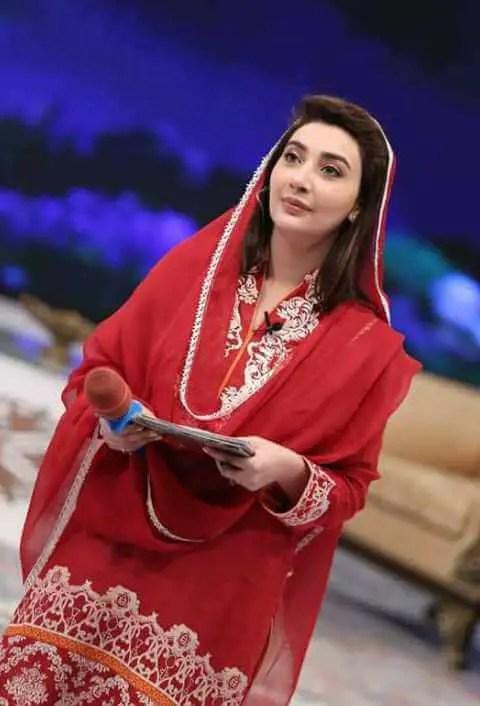 Ayesha Khan Red Color dress Image